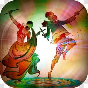karya seni menari pria dan wanita, Durga Puja Learn With Fun Navaratri, Durga Maa png