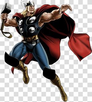 Ilustrasi Marvel Thor, Marvel: Aliansi Avengers Thor Loki Iron Man Hulk, MARVEL png
