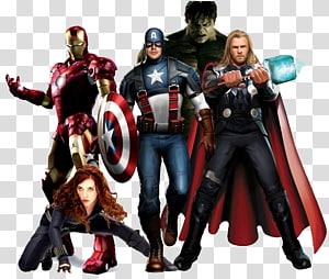 Marvel Avengers, Hulk Nick Fury Thor Black Widow Clint Barton, Avengers png