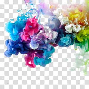 Seni abstrak Studio Seni Grafis, Elemen tombol bebas asap warna, lukisan abstrak beraneka warna PNG clipart