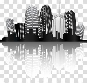 logo bangunan bertingkat tinggi, Gedung Silhouette, Charm City PNG clipart
