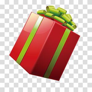 kotak hadiah merah dan hijau, Desainer Natal pembungkus kado, hadiah png