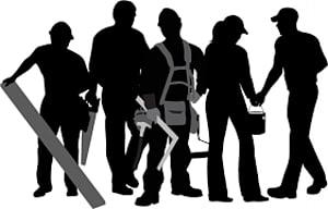 ilustrasi pekerja konstruksi, Pekerja konstruksi Silhouette Laborer, Pekerja konstruksi PNG clipart