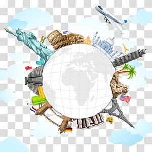 Ilustrasi Patung Liberty, Travel Dunia, Atraksi landmark material png
