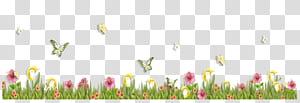 Bunga Kupu-kupu, Rumput dengan Kupu-kupu dan Bunga, kupu-kupu kuning di dekat bunga merah muda png
