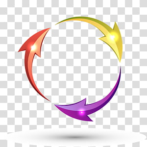 ilustrasi panah berputar, Lingkaran Panah, Panah siklus png