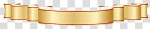 Ribbon Banner Emas, Emas dan Merah Banner, emas dan gulir merah png