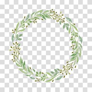 Undangan pernikahan Lukisan Kertas Cat Air Karangan Bunga, karangan bunga yang dilukis dengan Tangan, ilustrasi daun hijau PNG clipart