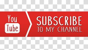 Tombol YouTube Ikon Komputer, Berlangganan, Youtube berlangganan teks saluran saya png