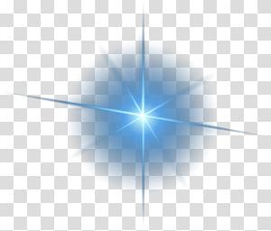 Pola Segitiga Simetri Cahaya, bahan efek cahaya dekoratif, ilustrasi bintang biru png