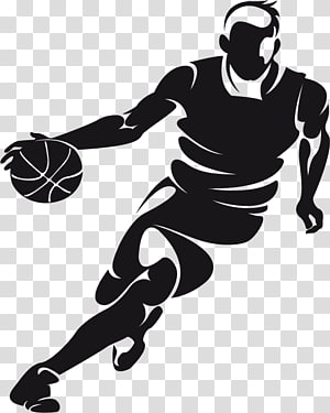 ilustrasi pemain bola basket, dribbling bola basket, pemain bola basket orang-orang kreatif PNG clipart