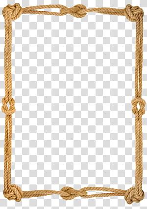 Tali Benar kekasih simpul Pixabay, Tali membuat perbatasan, bingkai tali coklat persegi panjang png