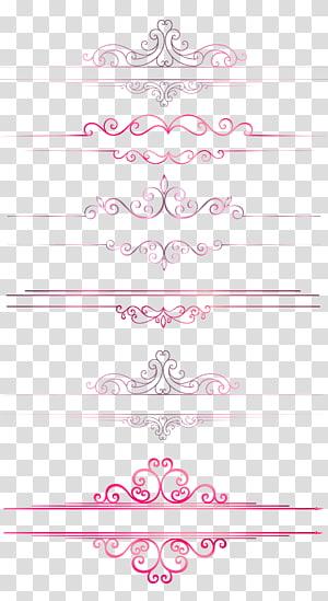 Garis pembatas garis pola Eropa, garis merah muda perbatasan png