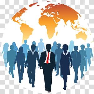 sekelompok orang di dalam ilustrasi dunia, Pengalihdayaan Sumber Daya Manusia, Bisnis PNG clipart