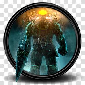 ilustrasi robot abu-abu dan hitam, komputer, Bioshock 2 11 png