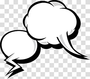 ilustrasi awan putih, dialog awan ledakan komik png