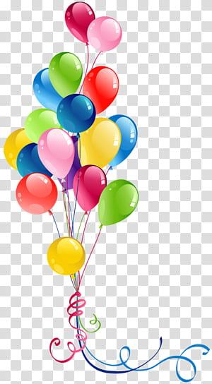 Balon, Bunch Balon, ilustrasi balon aneka warna png