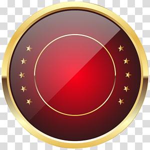 Pin Kerah Lencana, Templat Lencana Segel Merah, ilustrasi emas bulat dan merah PNG clipart
