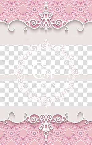 Kertas Seni visual Pola Merah Muda, bahan latar belakang pernikahan romantis Merah Muda, logo Changhaotao & Wangzhaojun png