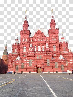 kastil merah, Moskow Mausoleum Kremlin Lenins Mausoleum Red State State Museum Cathedral Saint Basils, Rusia Red Square Building PNG clipart