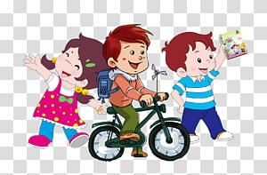 ilustrasi tiga anak, anak sekolah png