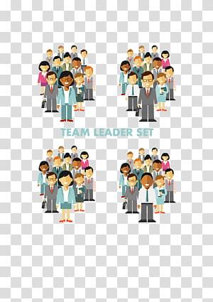 Set pemimpin tim, anggota tim kelompok png