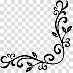 ilustrasi perbatasan hitam, perbatasan dan bingkai ornamen seni dekoratif baroque, grecas PNG clipart