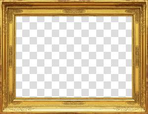 Bingkai Seni dekoratif, Latar Belakang Bingkai, bingkai kayu emas PNG clipart