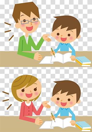 orang ilustrasi kolase, Siswa rumah Anak bimbingan belajar Ilustrasi Pekerjaan Rumah, Anak-anak belajar Gambar. png