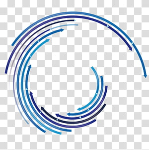 ilustrasi daur ulang biru, Panah, Panah dinamis png