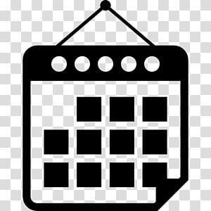 kalender hitam, simbol ikon komputer kalender, kalender PNG clipart