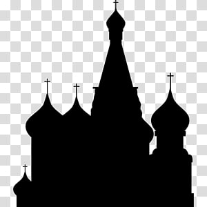ilustrasi siluet masjid, Katedral Saint Basil, Moskow Siluet Moskow, moskow PNG clipart