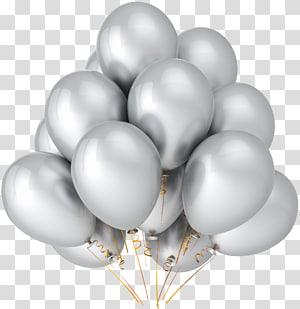 Balon Pesta warna Metalik Ulang Tahun Perak, Balon Perak, balon perak png