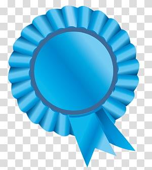 ilustrasi pita biru, Rosette, Rosette Ribbon Blue png
