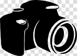 ilustrasi kamera hitam, Operator Kamera Silhouette, Silhouette png