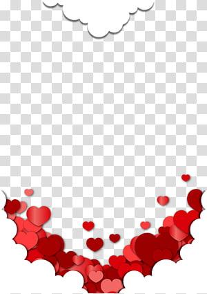 Kartu Ucapan Hadiah Wish Ulang Tahun Persahabatan, Tekstur perbatasan awan cinta merah, awan hati merah dan putih png