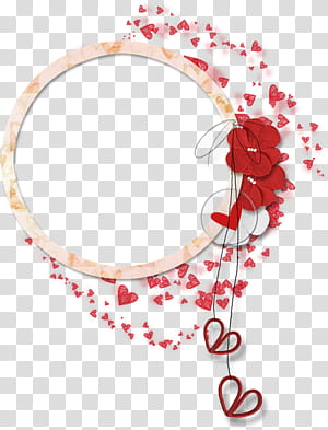 Bunga, Kelopak perbatasan renda melingkar, seni grafis jantung merah dan putih PNG clipart