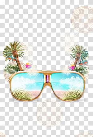 ilustrasi kacamata hitam bergaya Aviator berbingkai, File Komputer Euclidean Sunglasses, Sunglasses PNG clipart