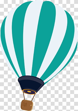 ilustrasi balon udara panas putih dan hijau, balon udara panas Euclidean, balon udara panas bergaris png