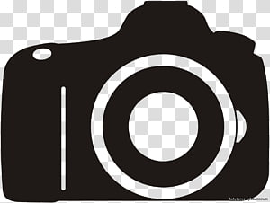 ilustrasi kamera hitam, Logo Kamera Digital SLR, kamera video png