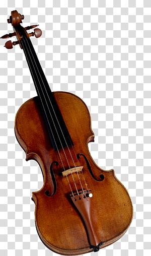 ilustrasi biola coklat dan hitam, Violin, Violin s png