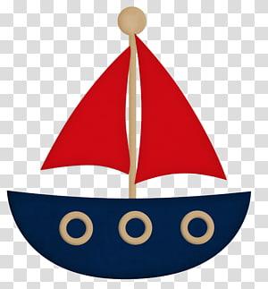 ilustrasi perahu layar biru, merah, dan krem, Sailor Baby shower Boat Convite Paper, bahari png