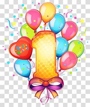 Kue ulang tahun, 1 ulang tahun, selamat ulang tahun pertama png