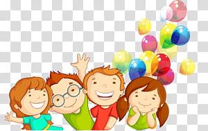 Gerakan hak-hak anak Ilustrasi anak-anak, kartun, dua anak laki-laki dan perempuan dengan balon PNG clipart