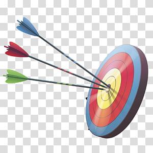 panah biru, merah, dan hijau, panah memanah, panah, dan target png
