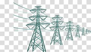 ilustrasi lot menara tegangan hijau, Menara Transmisi Listrik Tegangan tinggi, Kabel gardu induk png