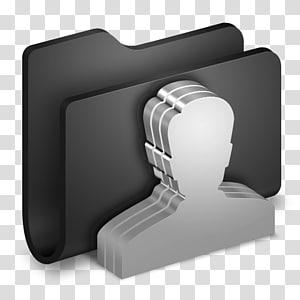 aksesori perangkat keras, Group Black Folder, ilustrasi man and folder png