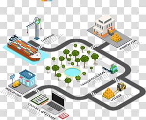 gudang, pengiriman, transportasi, pemuat, penimbangan, dan kontrol ilustrasi seni barang, Gudang Logistik Infografis, sistem gudang png