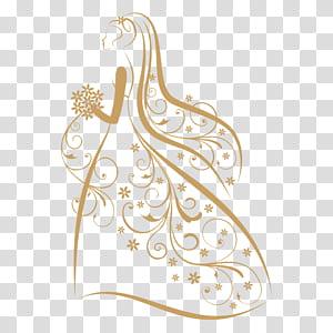 Logo Pernikahan, logo Pernikahan, pengantin memegang buket ilustrasi bunga png