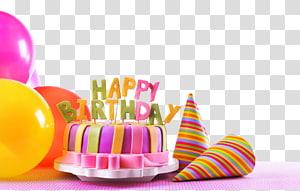 Kue ulang tahun Selamat Ulang Tahun untuk Anda, Kue Ulang Tahun, dekorasi kue Selamat Ulang Tahun pink dan hijau png
